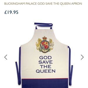 NWT Buckingham palace god save the Queen apron